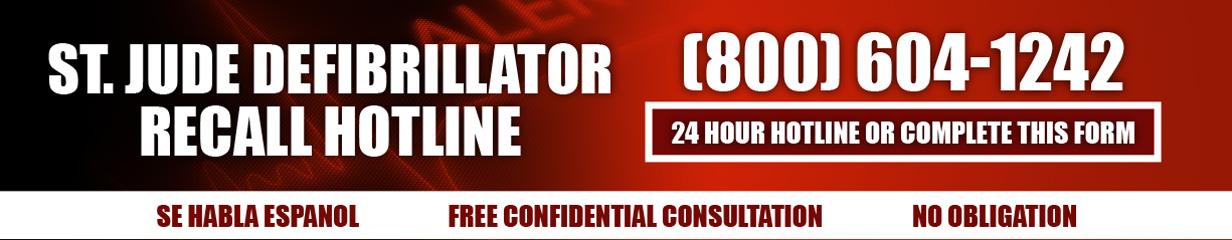 Defibrilator Recall Hotline - Call 1-800-530-4292